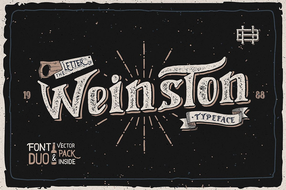 Weinston Typeface & Extras example image 1