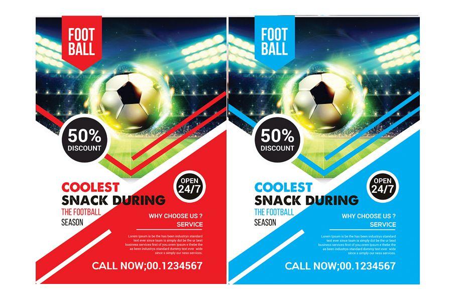 football flyer template by sanaimran design bundles