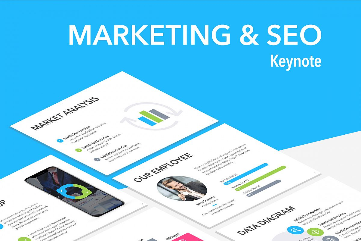Marketing & SEO Keynote Template example image 1