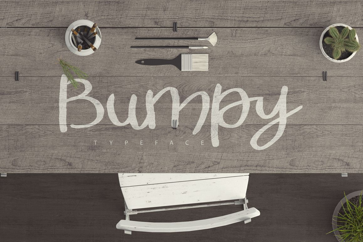 Bumpy Typeface example image 1