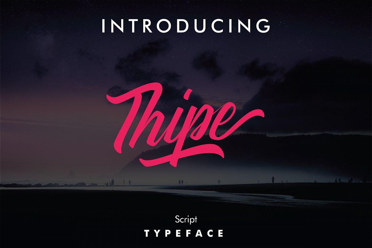 Thipe Typeface example image 1