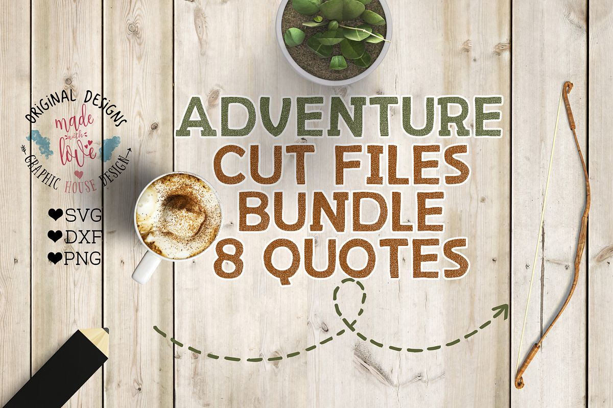 Adventure/Camping Cutting Files Bundle SVG, DXF, PNG example image 1