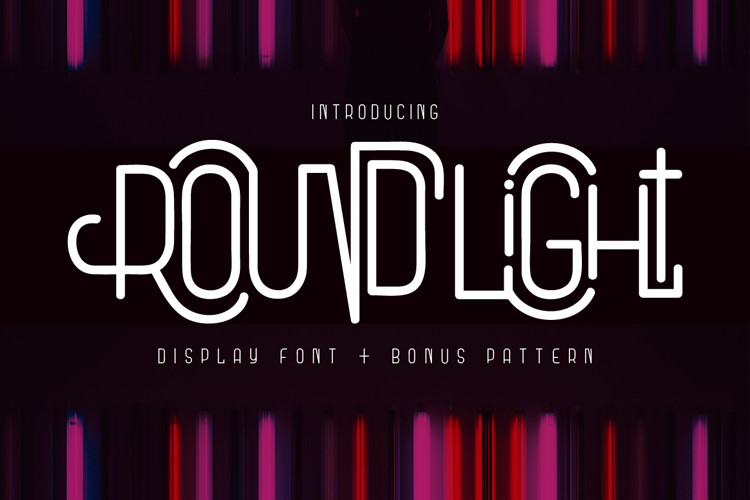 Round Light - Display Font & Pattern example image 1