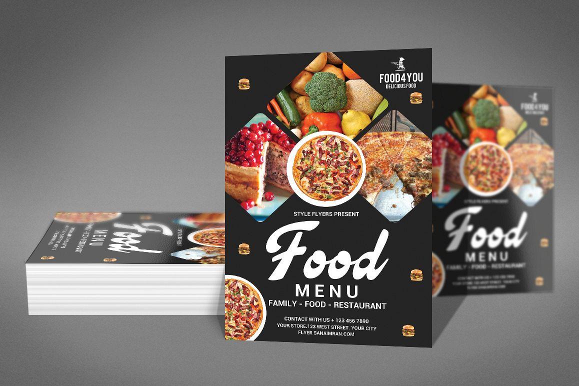 Food Menu Flyer Template example image 1