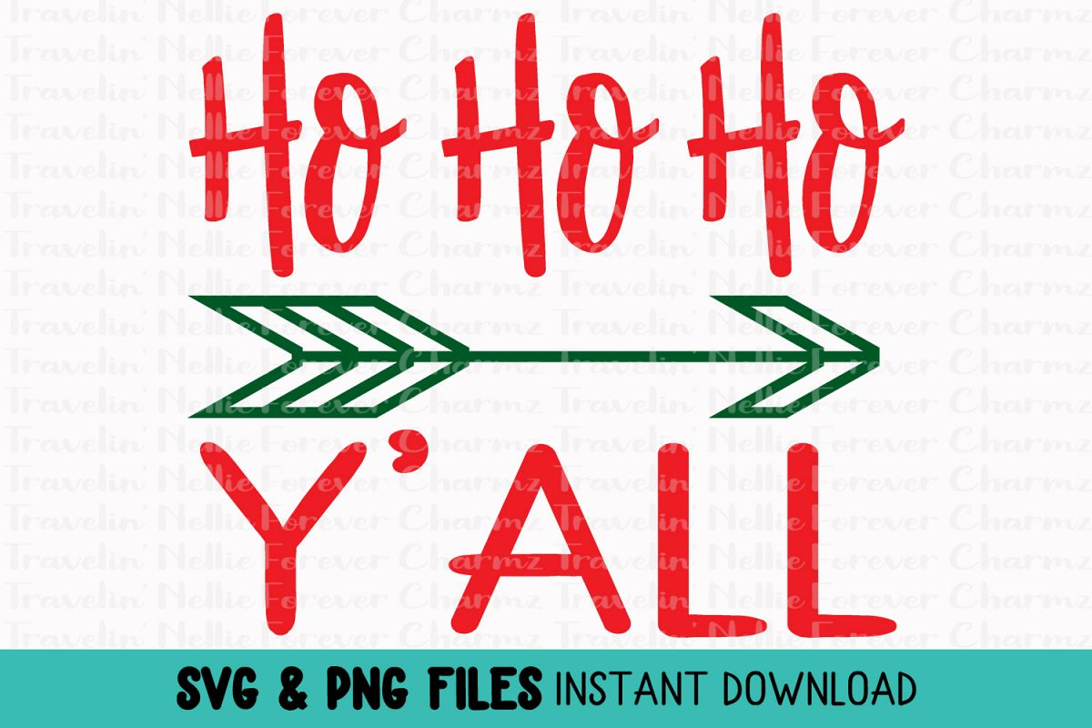 Ho Ho Ho Y'all SVG Toddler Kid Baby Christmas Holiday example image 1