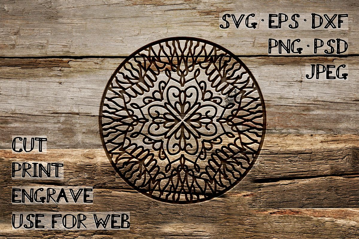 Circular Ornament Template | SVG DXF EPS PSD PNG JPEG example image 1