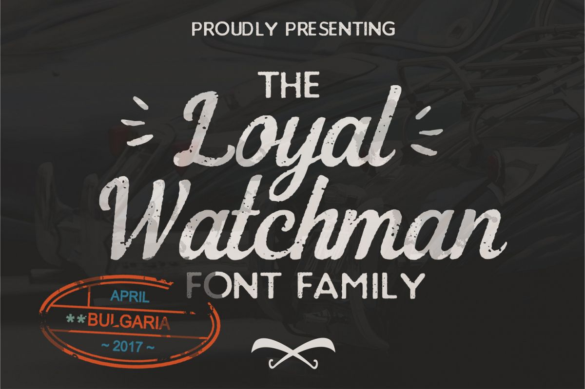 The Loyal Watchman 4 Font Family example image 1