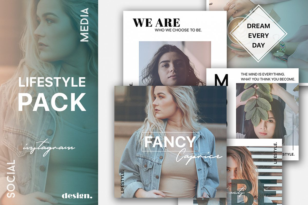 Lifestyle Instagram Template Set example image 1