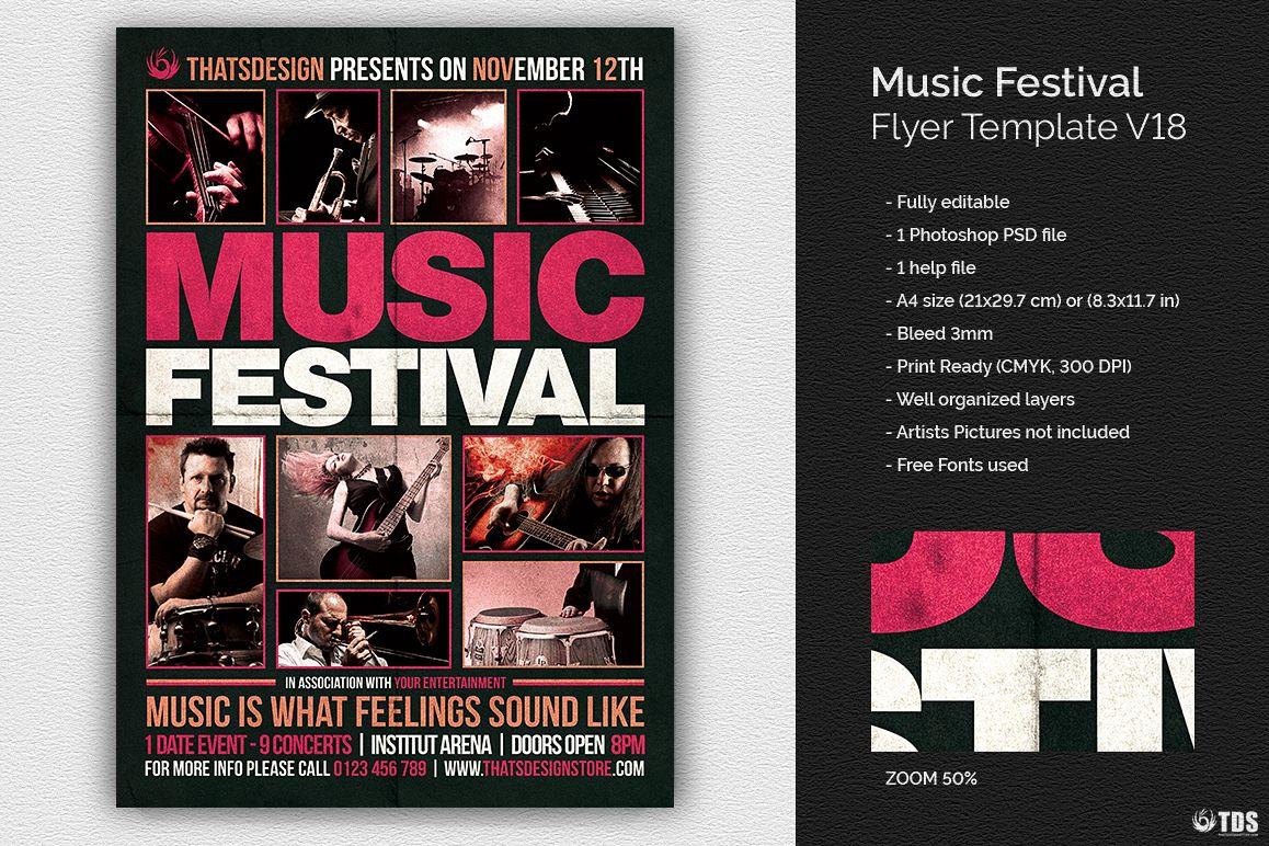 Music Festival Flyer Template V18 example image 1