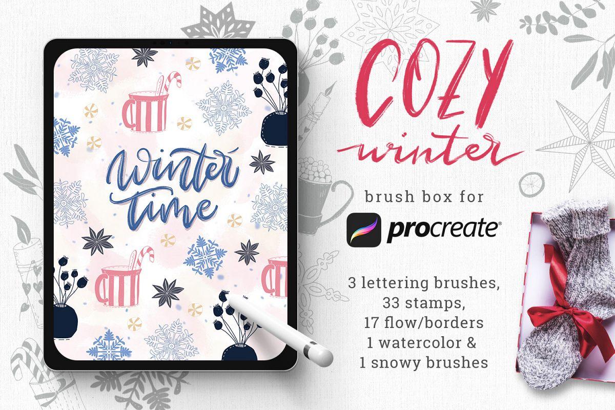 Winter Brush Box for Procreate example image 1