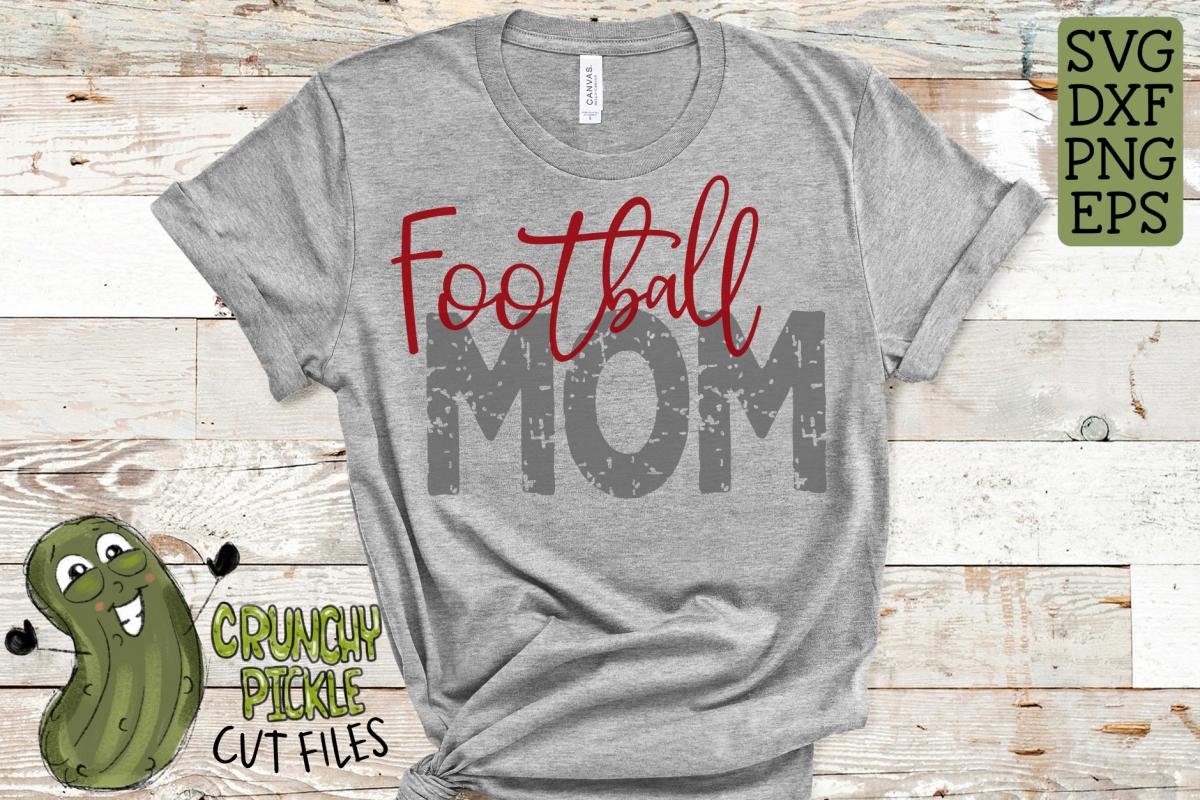 Football Mom & Bonus Team Mom Sports SVG Cut File example image 1