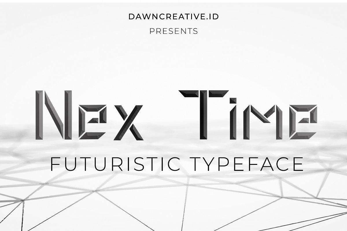 Nex Time Font example image 1