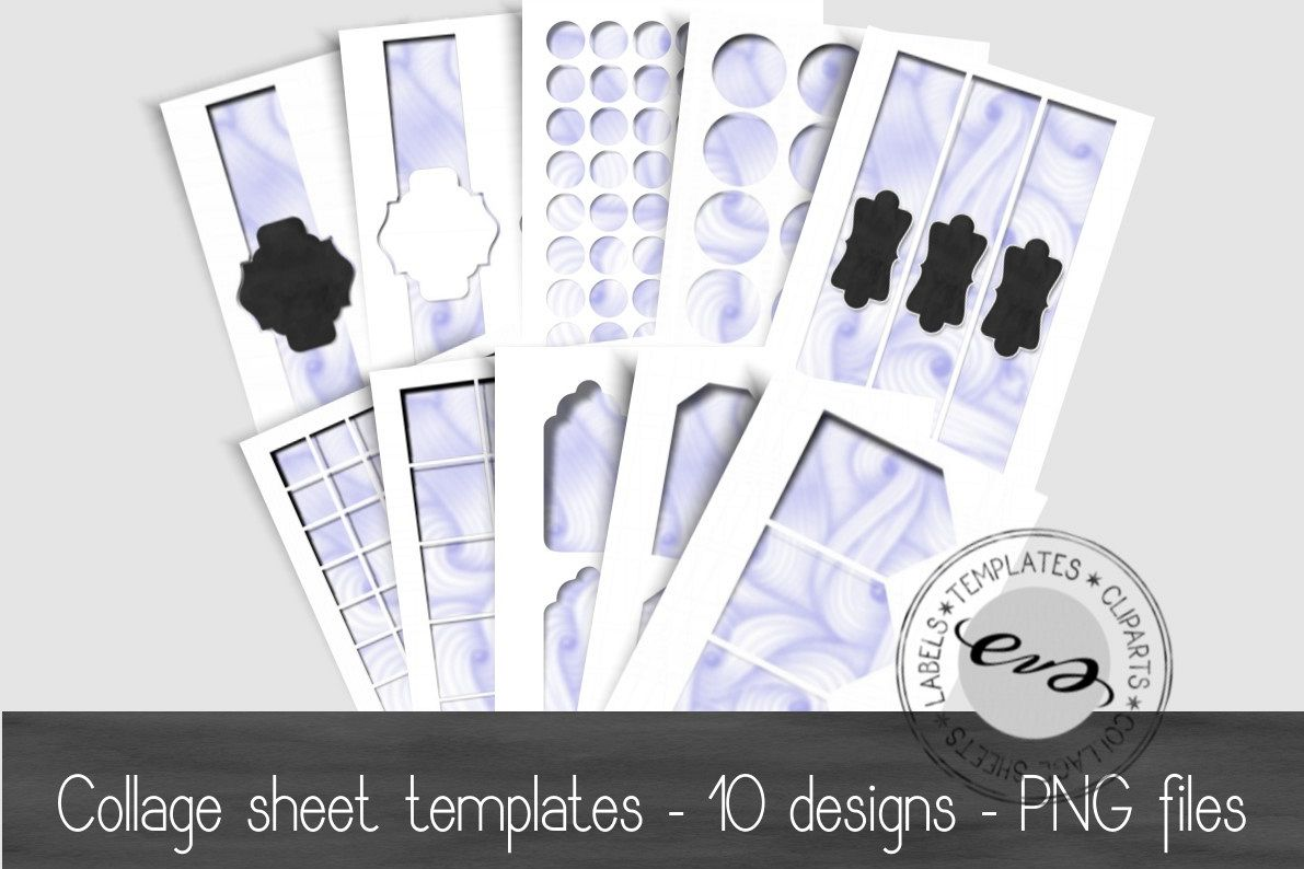 Digital collage sheet template pack example image 1