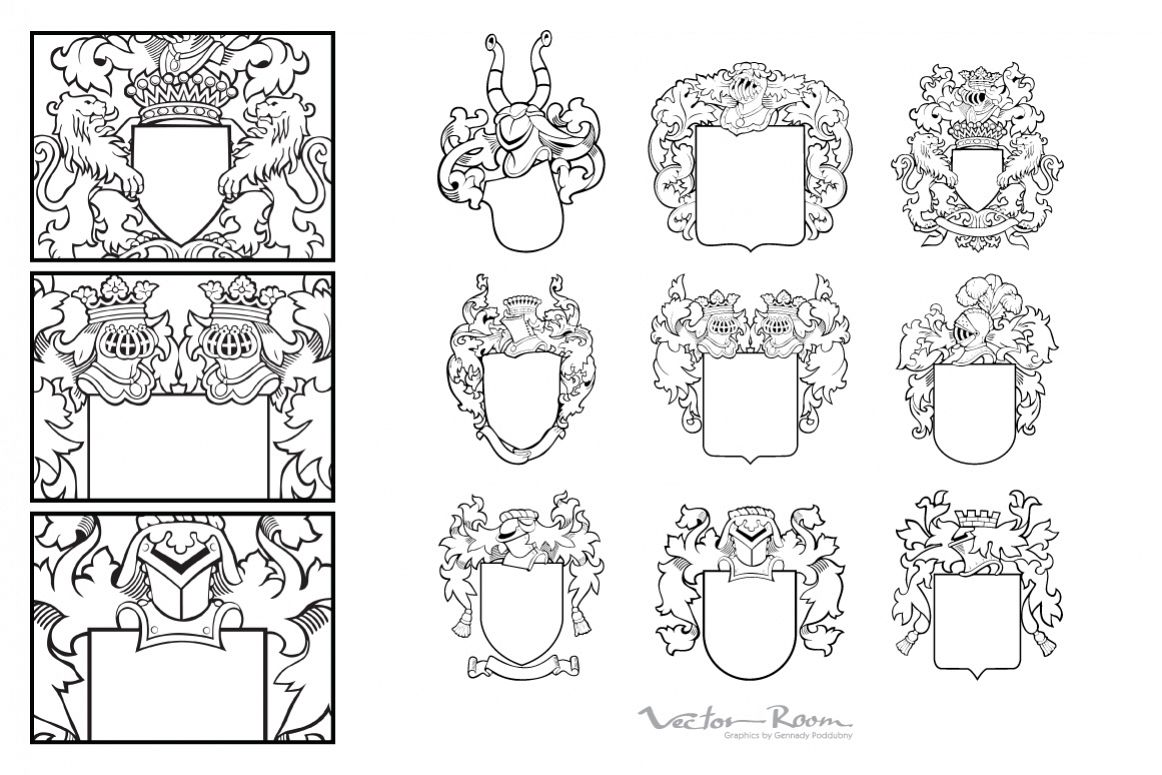 Set of Aristocratic Emblems Vol. IV example image 1