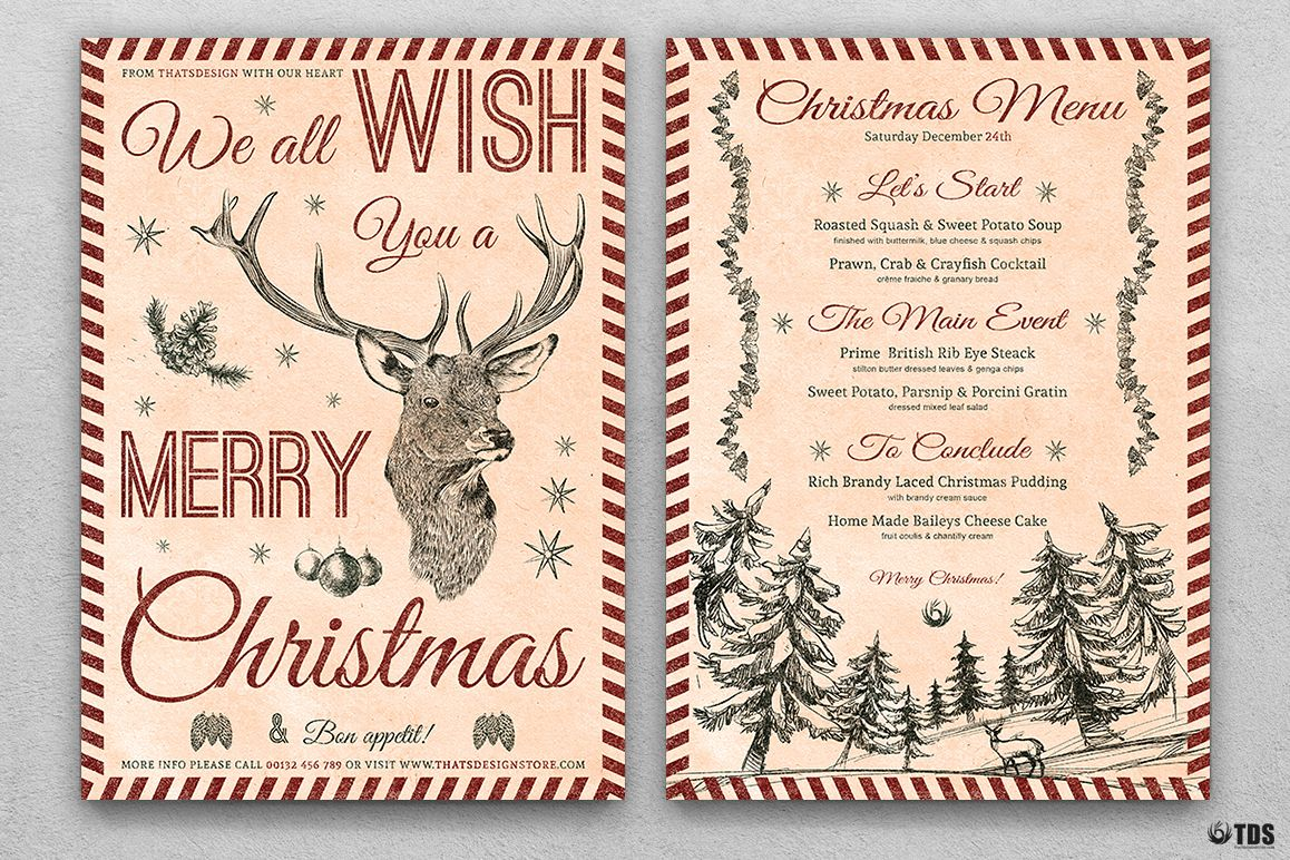 Christmas Menu Template V8