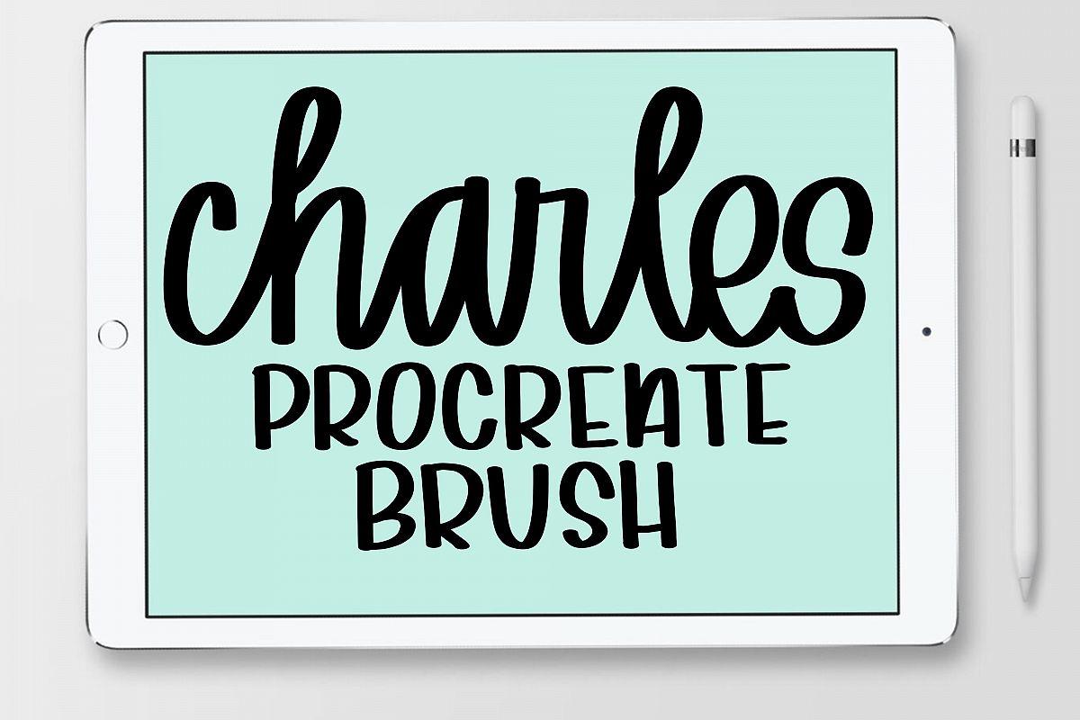 Procreate Hand Lettering Brush example image 1