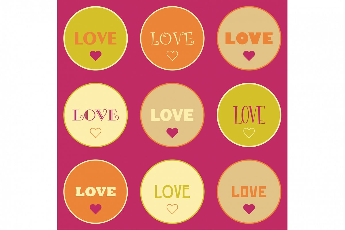 Seamless vector background with decorative hearts.  example image 1