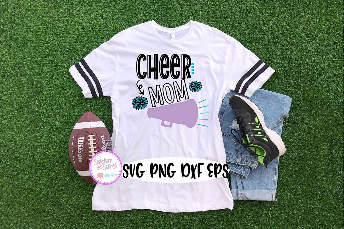 Cheer Mom SVG PNG DXF EPS example image 1