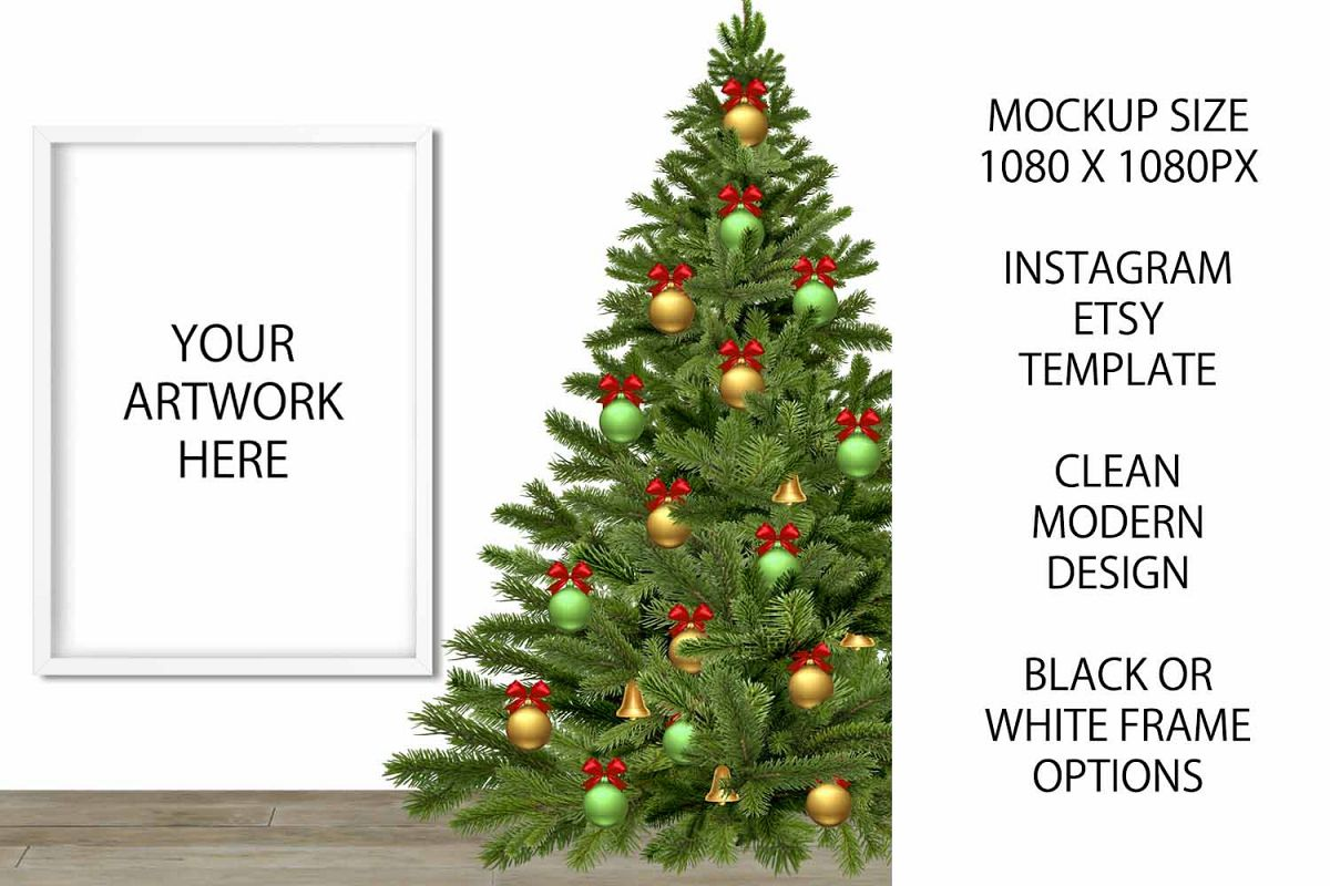 Christmas Mockup Frame for Etsy / Instagram example image 1