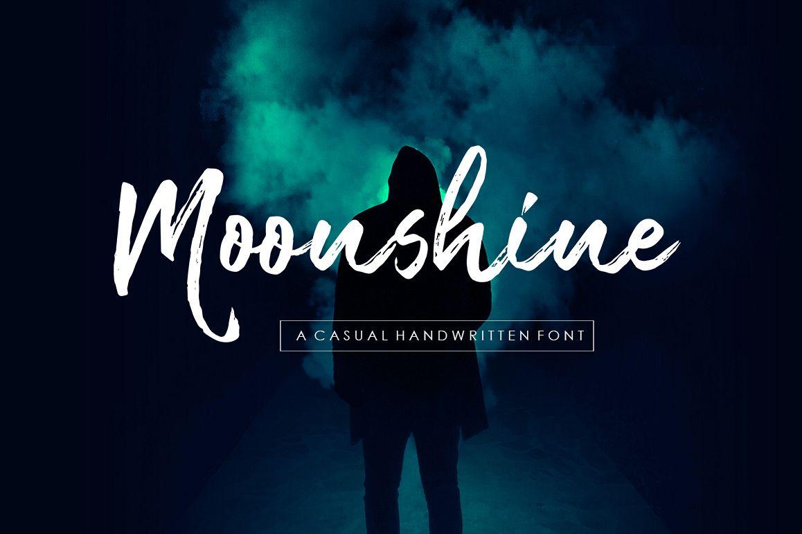 Moonshine Handwritten Font example image 1
