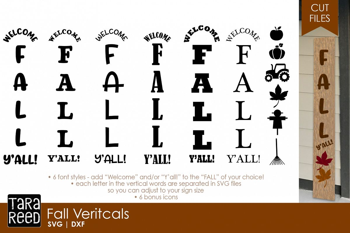 Fall Vertical Sign Bundle example image 1