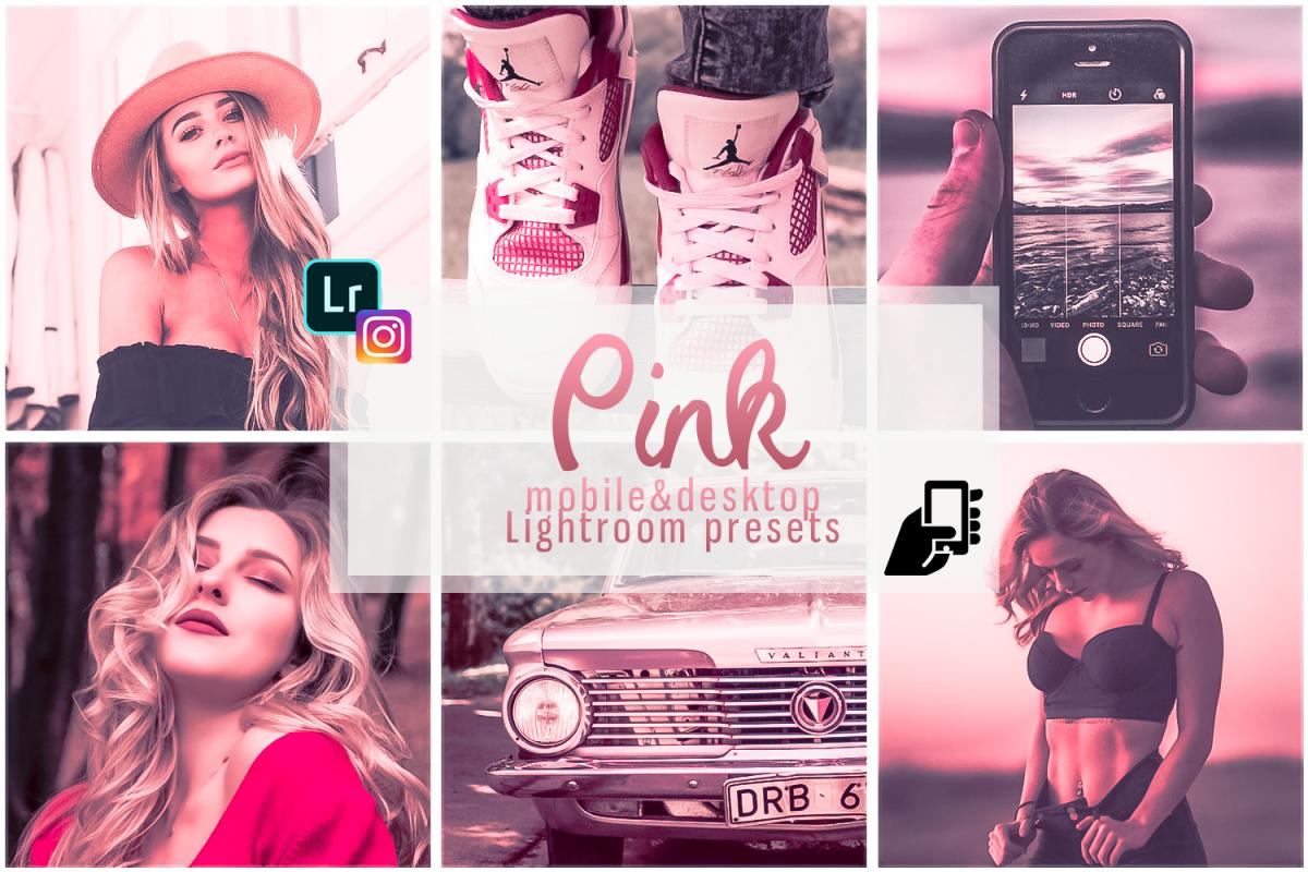 Pink presets rose mobile lightoom pastel presets filter example image 1