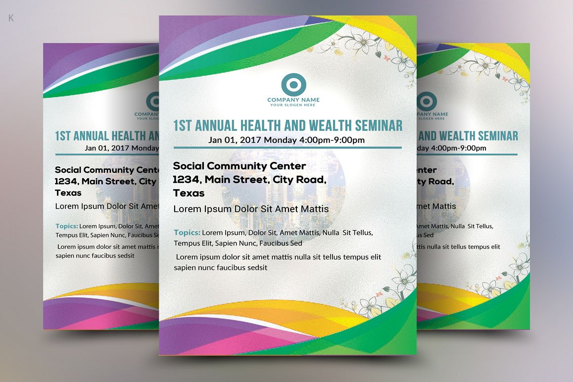 Seminar Flyer | Health Seminar Flyer