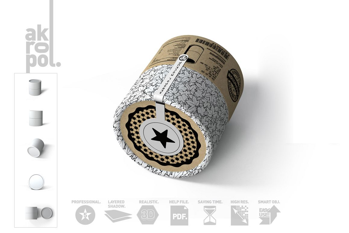 Paper tubes Mock up example image 1