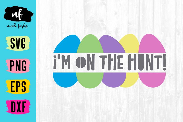 On The Hunt Easter SVG Cut File example image 1