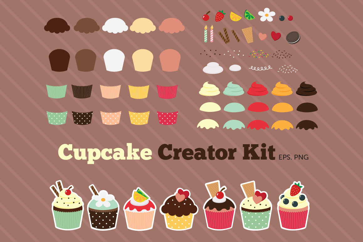 Cupcake creator kit clipart example image 1