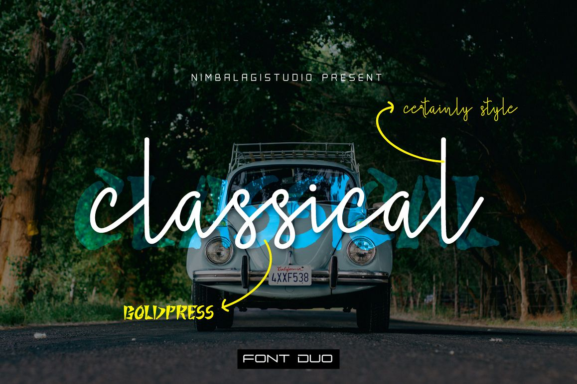Classical - Font Duo example image 1