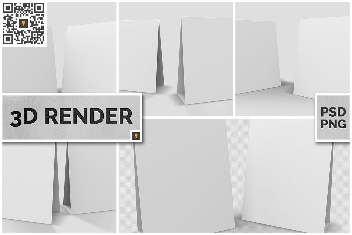 Table Tent 3D Render example image 1