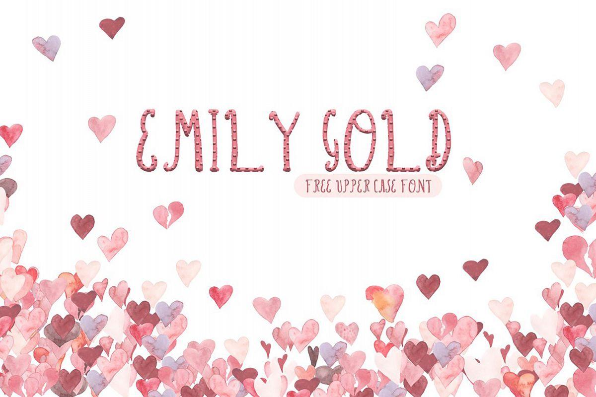 Emily Gold Font example image 1