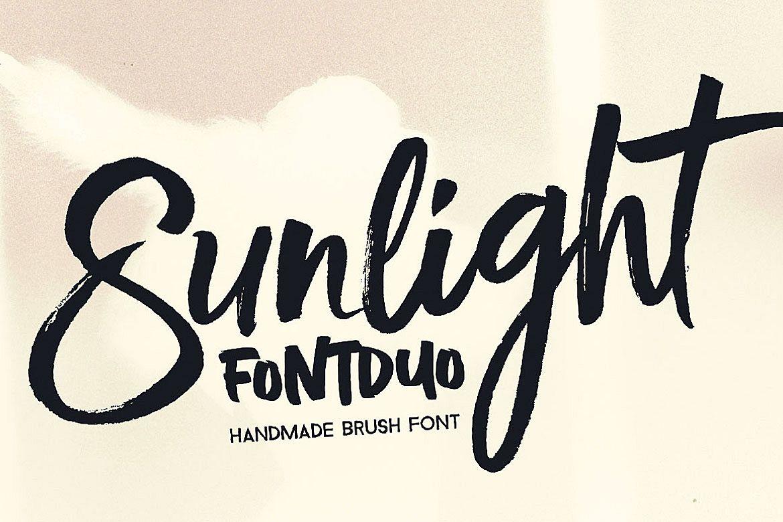 Sunlight - Brush Font Duo example image 1