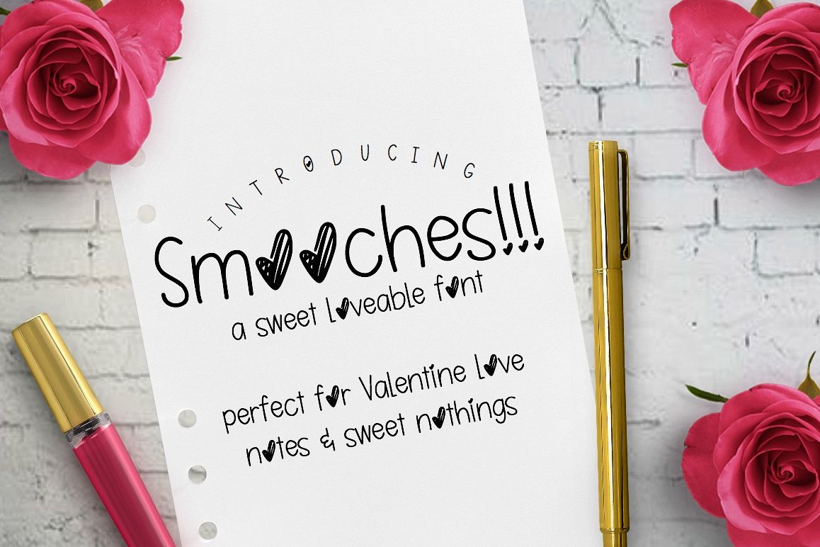 Smooches: Handwritten Font example image 1