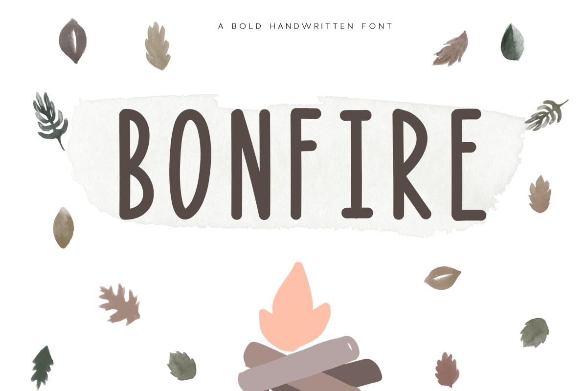 Bonfire - A Bold Handwritten Font example image 1