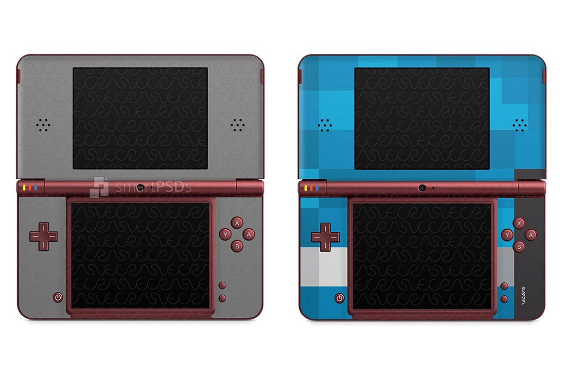 Nintendo Dsi Xl Skin Decal Design Template 2009
