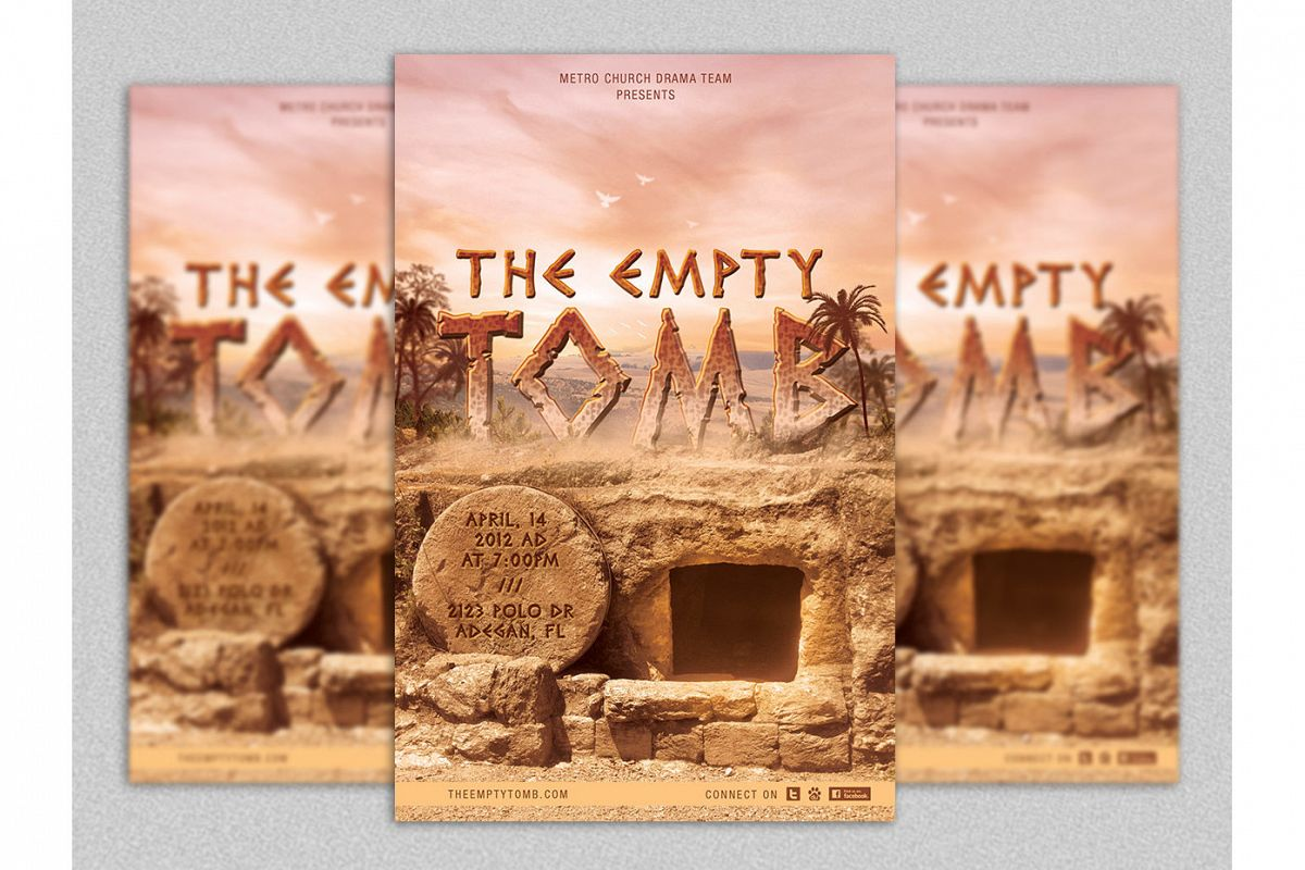 Empty Tomb Easter Flyer Template example image 1
