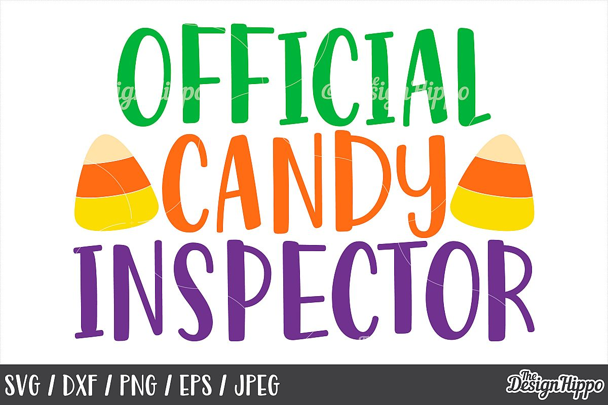 Official candy inspector SVG, Candy corn, Trick or treat SVG example image 1