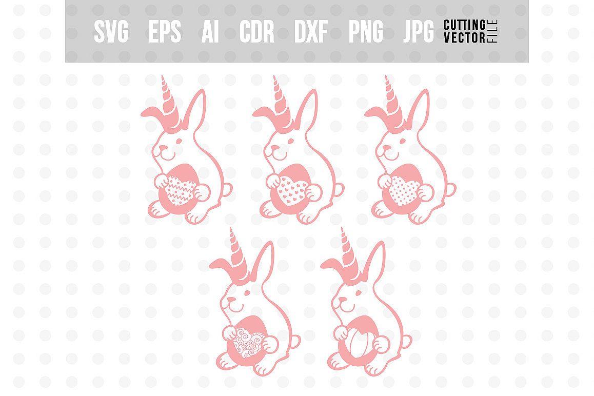 Bunny Unicorn with Egg - Easter Bundle example image 1