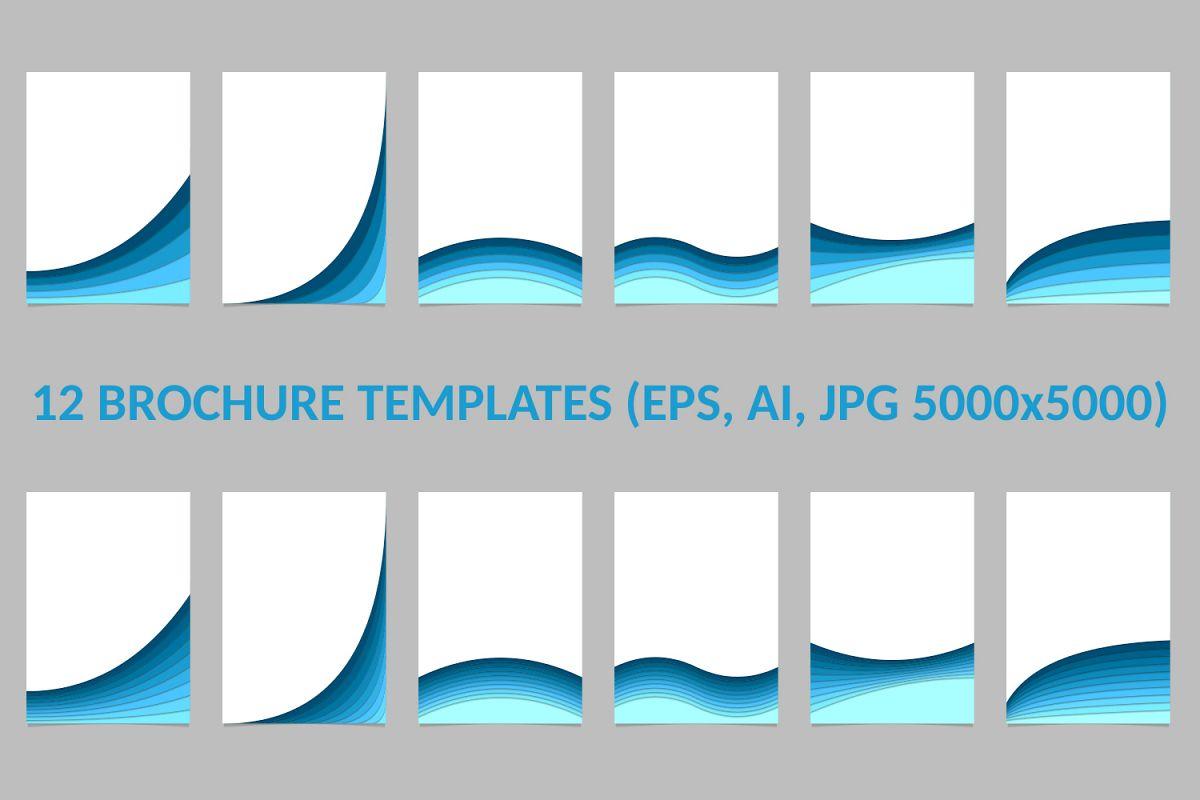 12 Brochure Templates (AI, EPS, JPG 5000x5000) example image 1