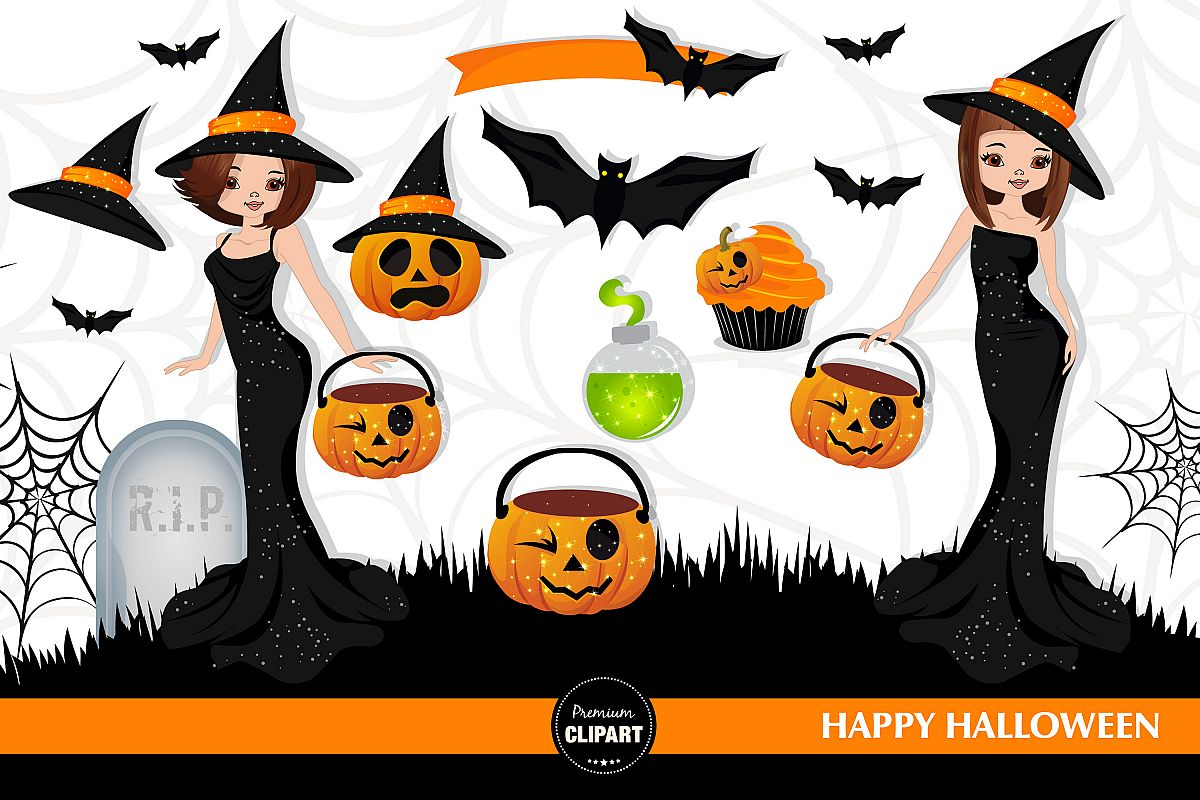 Halloween witch, Halloween illustrations, Halloween pumpkin example image 1