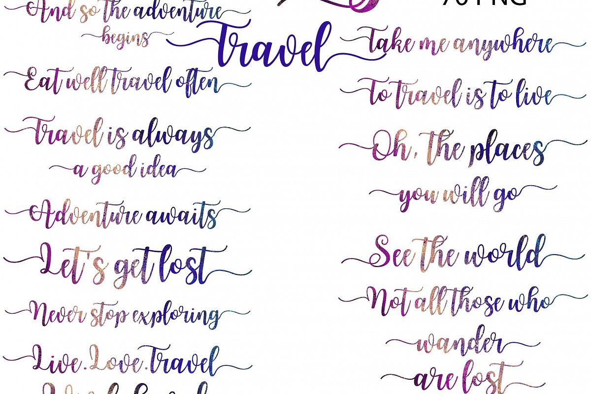 Travel Word Art Clipart Example Image