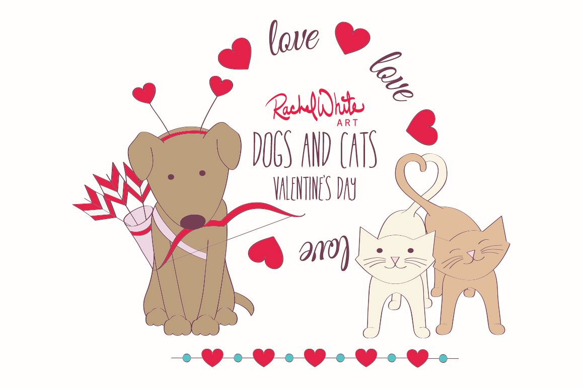 Dogs & Cats, Valentine's Day example image 1
