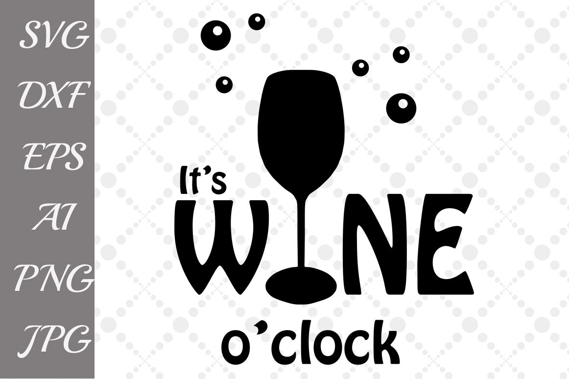 t's wine o'clock Svg example image 1