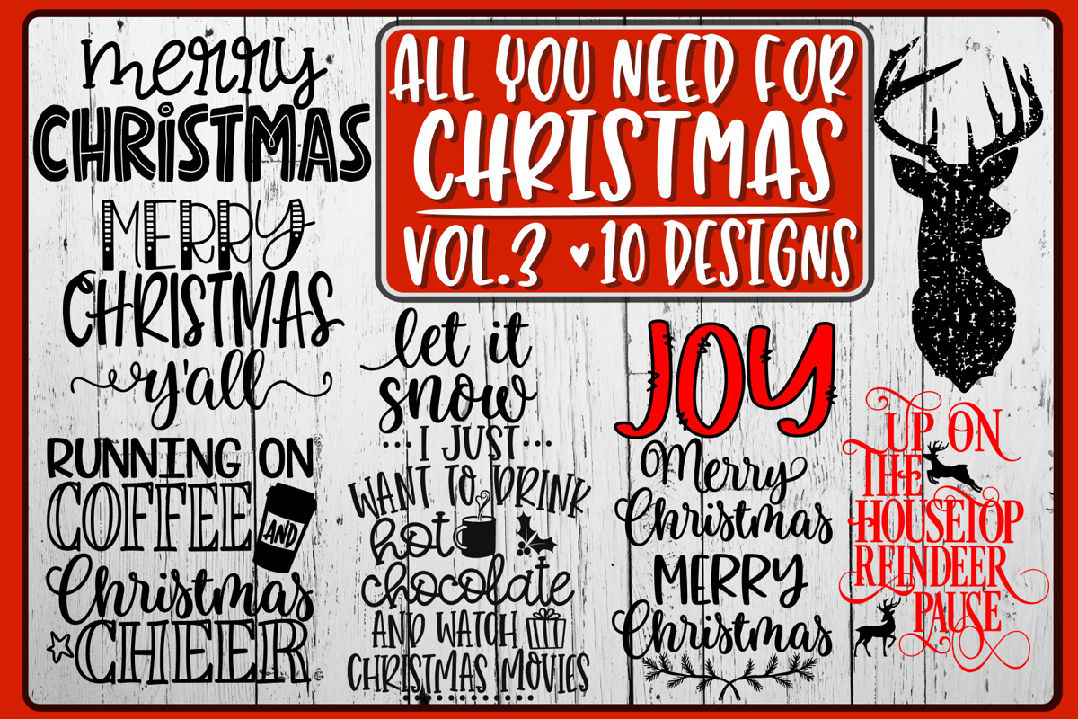 All You Need For Christmas Bundle - Vol 3 - 10 Designs example image 1