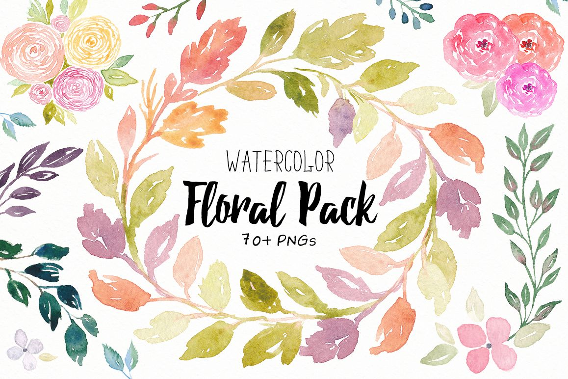 Watercolor Floral Pack example image 1