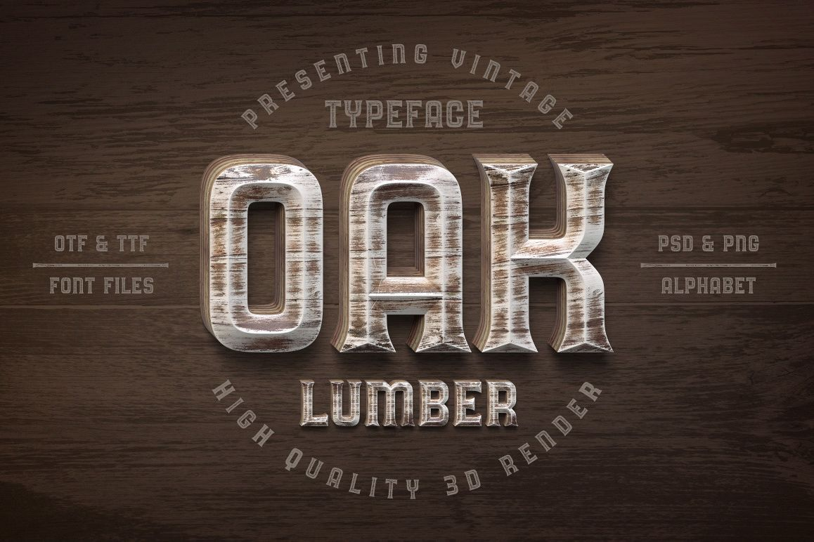 Oak Lumber Font example image 1