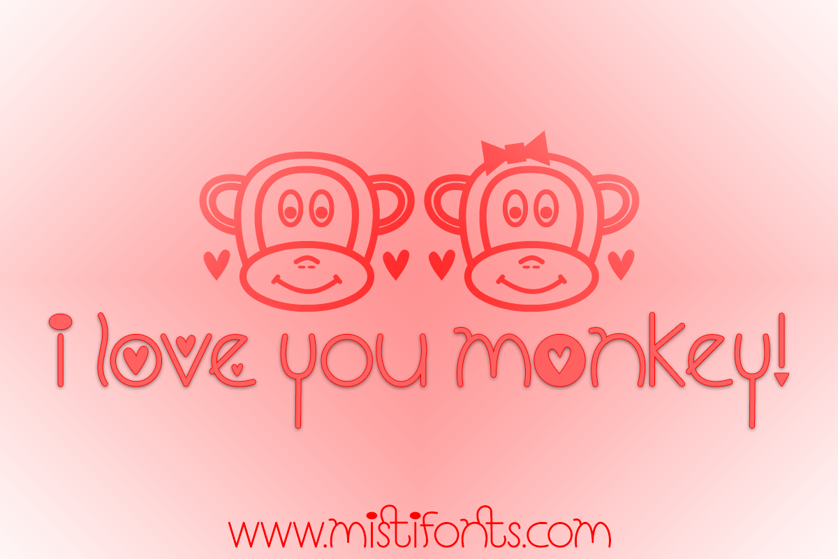 I Love You Monkey example image 1