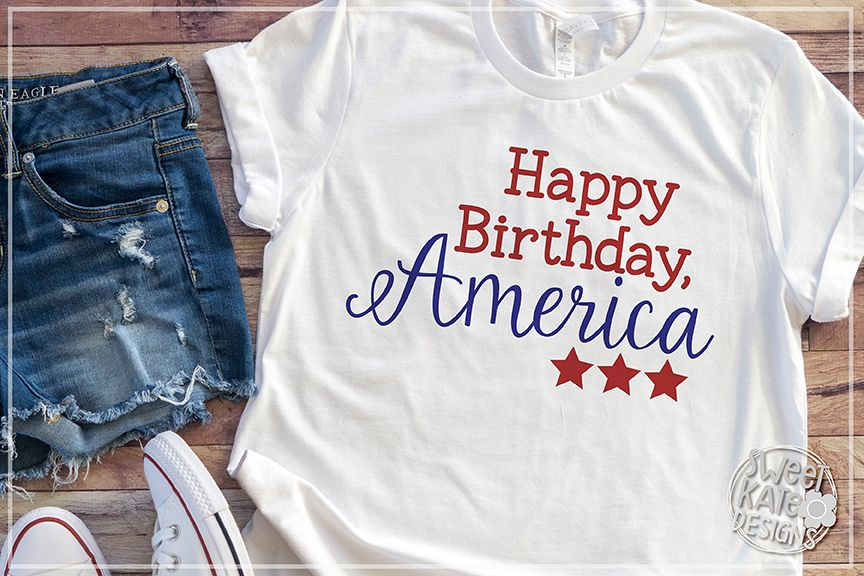 Happy Birthday America SVG DXF EPS PNG JPG Example Image 1